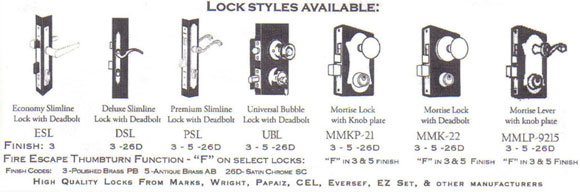 Available Locks